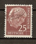 Stamps Germany -  Theodore Heuss.
