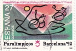 Stamps : Europe : Spain :  PARALÍMPICOS BARCELONA-92     (2)