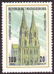 Sellos de Africa - Madagascar -  Alemania - Catedral de Colonia
