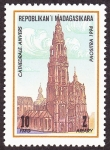 Stamps Madagascar -  BELGICA - Campanarios de Bélgica y Francia