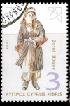 Stamps Asia - Cyprus -  mujer con traje tipico