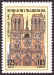 Stamps Madagascar -  FRANCIA - París, orillas del Sena