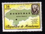 Stamps : America : Honduras :  San Ignaciano, Lugar de nacimiento de Luis Landa