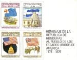 Stamps : America : Honduras :  Homenaje de La República de Honduras al Pueblo de Los Estados Unidos de América