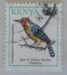 Sellos del Mundo : Africa : Kenya : Red-and-yellow Barbet