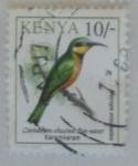 Sellos de Africa - Kenya -  Cinnamon-chested Bee-eater