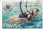 Stamps Spain -  XVIII CAMPEONATO DEL MUNDO DE SALVAMENTO BARCELONA-1974    (2)