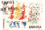 Stamps Spain -  EXPO-SEVILLA    (2)