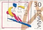 Stamps Spain -  ESQUÍ-ILUSTRACIONES   (2)