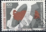 Stamps Turkey -  TURQUIA SCOTT_1993 RUEDA DENTADA Y MAPA DE TURQUIA