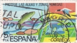 Stamps : Europe : Spain :  PROTEGE LAS AGUAS Y ZONAS HÚMEDAS  (2)