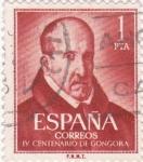 Sellos de Europa - España -  IV CENTENARIO DE GONGORA    (2)