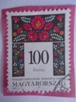 Sellos de Europa - Hungría -  Magyarország- 100 Forint- Hímzett Motívumok. Szécsény vidéke