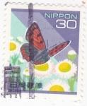 Sellos del Mundo : Asia : Japón : mariposa