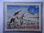 Stamps Venezuela -  Serie, Conozca a Venazuela Primero - Pescadores (Estado anzoátegui)