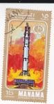Stamps Bahrain -  Lanzamiento Espacial