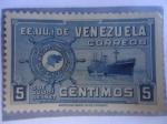 Stamps Venezuela -  E.E.U.U. de Venezuela -Flota Mercante Grancolombiana-5 de Julio 1947
