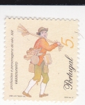 Sellos de Europa - Portugal -  Basurero -Profesiones del siglo XIX