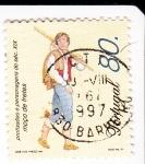 Sellos de Europa - Portugal -  Mozo de mercaderías -Profesiones del siglo XIX