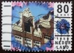 Sellos de Europa - Holanda -  Flor y edificio
