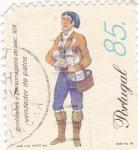 Sellos de Europa - Portugal -  Vendedor de patos -Profesiones del siglo XIX