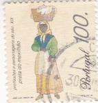 Stamps Portugal -  Lavandera -Profesiones del siglo XIX