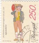 Stamps Portugal -  Aguador-Profesiones del siglo XIX