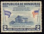 Sellos de America - Honduras -  Aniversario de Lincoln