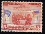 Sellos de America - Honduras -  Lincoln Liberando a Los Esclavos