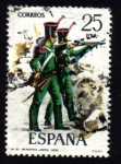 Stamps Spain -  Infantería Ligera