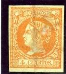 Stamps Spain -  Isabel II