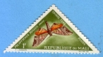 Stamps : Africa : Mali :  Polyptychus Roseus