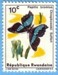 Stamps : Africa : Rwanda :  Papilio bromius