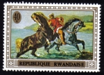 Sellos del Mundo : Africa : Rwanda : Emerging from the Sea by Delacroix