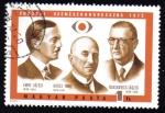 Sellos de Europa - Hungría -  József Imre, Emil Grósz, László Blaskovics, Congreso Europeo de Oftalmológica 1972