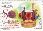 Stamps Spain -  Fiesta de la Vendímia Riojana  (3)