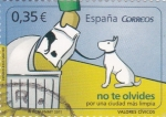 Stamps Spain -  No te olvides, por una Ciudad más límpia   (3)