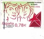 Stamps Spain -  Juventudes Socialistas de España 1906-2006   (3)