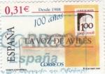 Stamps Spain -  Diarios Centenarios- La Voz de Avilés   (3)
