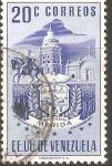 Stamps Venezuela -  ESCUDO  DE  MÈRIDA  E  IGLESIA  Y  ESTATUA
