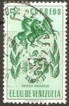 Stamps Venezuela -  ESCUDO  DE  CIUDAD  DE  MONAGAS  Y  CABALLOS