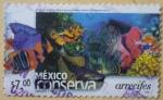 Sellos del Mundo : America : México :  México conserva - arrecifes