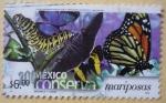 Sellos del Mundo : America : México :  México conserva - mariposas