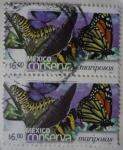 Sellos del Mundo : America : México :  México conserva - mariposas (repetido))