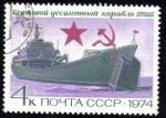 Sellos del Mundo : Europa : Rusia : Rusia URSS 1974 Scott 4224 Sello Nuevo Barco Marina Rusa Landing Craft CCPP