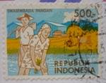 Sellos de Asia - Indonesia -  Autosuficiencia alimentaria