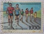 Sellos de Asia - Indonesia -  Practicar el deporte en comunidad