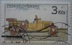 Sellos del Mundo : Europa : Checoslovaquia :  Automóvil Tatra 12 Normandie - 1929