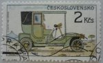 Sellos del Mundo : Europa : Checoslovaquia :  Automóvil Tatra NW typ E - 1905