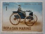 Sellos de Europa - San Marino -  Automóvil Duryea, USA 1932